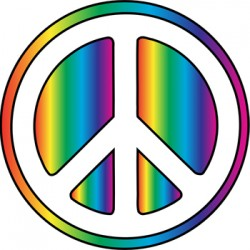 rainbow peace sign copy