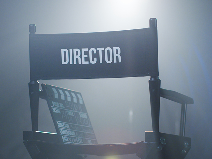 Empty directors chair production insurance